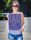 "RWY23 IAD Washington (Dulles) Airport Diagram Poster 12""x16"" Person"