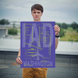 "RWY23 IAD Washington (Dulles) Airport Diagram Poster 18""x24"" Person"