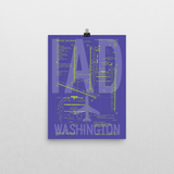 "RWY23 IAD Washington (Dulles) Airport Diagram Poster 12""x16"" Wall"