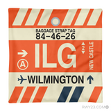 RWY23 - ILG Wilmington, Delaware Airport Code Throw Pillow - Aviation Gift Travel Gift