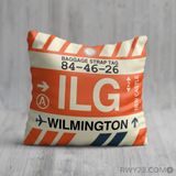 RWY23 - ILG Wilmington, Delaware Airport Code Throw Pillow - Birthday Gift Christmas Gift