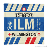RWY23 - ILM Wilmington, North Carolina Airport Code Throw Pillow - Aviation Gift Travel Gift