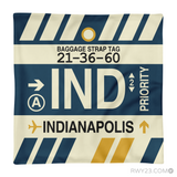 RWY23 - IND Indianapolis, Indiana Airport Code Throw Pillow - Aviation Gift Travel Gift
