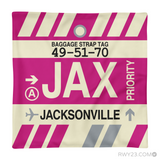 RWY23 - JAX Jacksonville, Florida Airport Code Throw Pillow - Aviation Gift Travel Gift