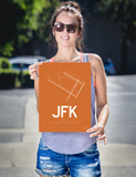 "RWY23 - JFK New York Airport Runway Diagram Unframed Rectangle Poster - Travel Gift - 12""x16"" Person"