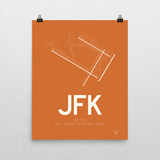 "RWY23 - JFK New York Airport Runway Diagram Unframed Rectangle Poster - Expat Gift - 16""x20"" Wall"