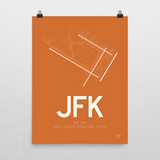 "RWY23 - JFK New York Airport Runway Diagram Unframed Rectangle Poster - Birthday Gift - 18""x24"" Wall"