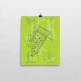 "RWY23 - JFK New York Airport Diagram Poster - Aviation Art - Birthday Gift, Christmas Gift, Home and Office Decor  - 8""x10"" Wall"