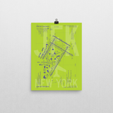 "RWY23 JFK New York (John F. Kennedy) Airport Diagram Poster 12""x16"" Wall"