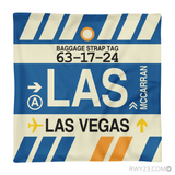 RWY23 - LAS Las Vegas, Nevada Airport Code Throw Pillow - Aviation Gift Travel Gift