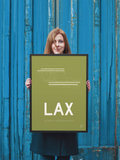 "RWY23 - LAX Los Angeles Airport Runway Diagram Framed Rectangle Poster - Birthday Gift - 18""x24"" Person"