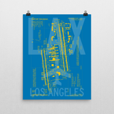 "RWY23 LAX Los Angeles Airport Diagram Poster 16""x20"" Wall"
