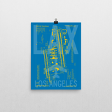 "RWY23 LAX Los Angeles Airport Diagram Poster 12""x16"" Wall"