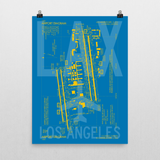 "RWY23 LAX Los Angeles Airport Diagram Poster 18""x24"" Wall"