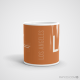 RWY23 - LAX Los Angeles Coffee Mug - Airport Code and Runway Diagram Design - Student Gift Teacher Gift - Side