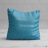 RWY23 - LAX Los Angeles Throw Pillow - Airport Runway Diagram Design - Birthday Gift Christmas Gift