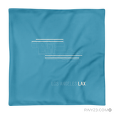 RWY23 - LAX Los Angeles Throw Pillow - Airport Runway Diagram Design - Aviation Gift Travel Gift