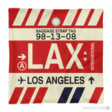 RWY23 - LAX Los Angeles, California Airport Code Throw Pillow - Aviation Gift Travel Gift