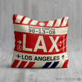RWY23 - LAX Los Angeles, California Airport Code Throw Pillow - Birthday Gift Christmas Gift