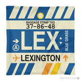 RWY23 - LEX Lexington, Kentucky Airport Code Throw Pillow - Aviation Gift Travel Gift