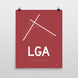 "RWY23 - LGA New York Airport Runway Diagram Unframed Rectangle Poster - Expat Gift - 16""x20"" Wall"