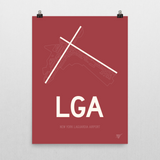 "RWY23 - LGA New York Airport Runway Diagram Unframed Rectangle Poster - Birthday Gift - 18""x24"" Wall"