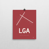 "RWY23 - LGA New York Airport Runway Diagram Unframed Rectangle Poster - Airport Gift - 8""x10"" Wall"