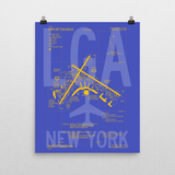 "RWY23 LGA New York (LaGuardia) Airport Diagram Poster 16""x20"" Wall"