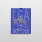 "RWY23 LGA New York (LaGuardia) Airport Diagram Poster 8""x10"" Wall"