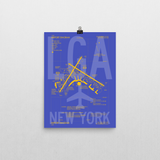 "RWY23 LGA New York (LaGuardia) Airport Diagram Poster 12""x16"" Wall"