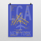 "RWY23 LGA New York (LaGuardia) Airport Diagram Poster 18""x24"" Wall"