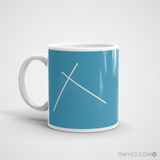 RWY23 - LGA New York Airport Runway Diagram Coffee Mug - Christmas Gift Travel Gift - Left