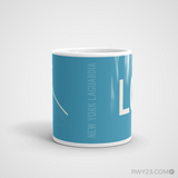 RWY23 - LGA New York Airport Runway Diagram Coffee Mug - Student Gift Teacher Gift - Side
