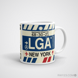 RWY23 - LGA New York, New York Airport Code Coffee Mug - Graduation Gift, Housewarming Gift - Right