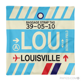 RWY23 - LOU Louisville, Kentucky Airport Code Throw Pillow - Aviation Gift Travel Gift