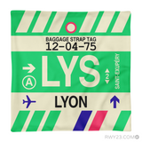 RWY23 - LYS Lyon, France Airport Code Throw Pillow - Aviation Gift Travel Gift