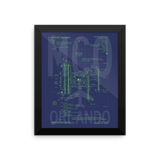 "RWY23 MCO Orlando Airport Diagram Framed Poster 8""x10"" Wall"