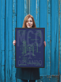 "RWY23 - MCO Orlando Airport Diagram Framed Poster - Aviation Art - Birthday Gift, Christmas Gift, Home and Office Decor - 18""x24"" Person"