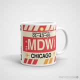 RWY23 - MDW Chicago, Illinois Airport Code Coffee Mug - Graduation Gift, Housewarming Gift - Right