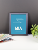 "RWY23 MIA Miami Airport Diagram Framed Poster 8""x10"" Desk"