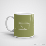RWY23 - MIA Miami Coffee Mug - Airport Code and Runway Diagram Design - Christmas Gift Travel Gift - Left