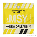 RWY23 - MSY New Orleans, Louisiana Airport Code Throw Pillow - Aviation Gift Travel Gift