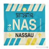 RWY23 - NAS Nassau, Bahamas Airport Code Throw Pillow - Aviation Gift Travel Gift