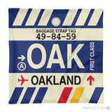 RWY23 - OAK Oakland, California Airport Code Throw Pillow - Aviation Gift Travel Gift