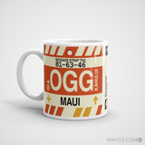 RWY23 - OGG Maui, Hawaii Airport Code Coffee Mug - Birthday Gift, Christmas Gift - Left