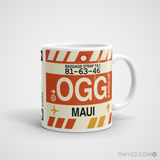 RWY23 - OGG Maui, Hawaii Airport Code Coffee Mug - Graduation Gift, Housewarming Gift - Right