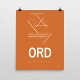 "RWY23 ORD Chicago (O'Hare) Airport Diagram Poster 16""x20"" Wall"