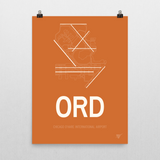 "RWY23 ORD Chicago (O'Hare) Airport Diagram Poster 18""x24"" Wall"