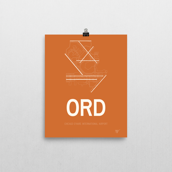 "RWY23 ORD Chicago (O'Hare) Airport Diagram Poster 8""x10"" Wall"