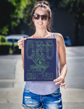"RWY23 ORD Chicago Airport Diagram Poster 12""x16"" Person"